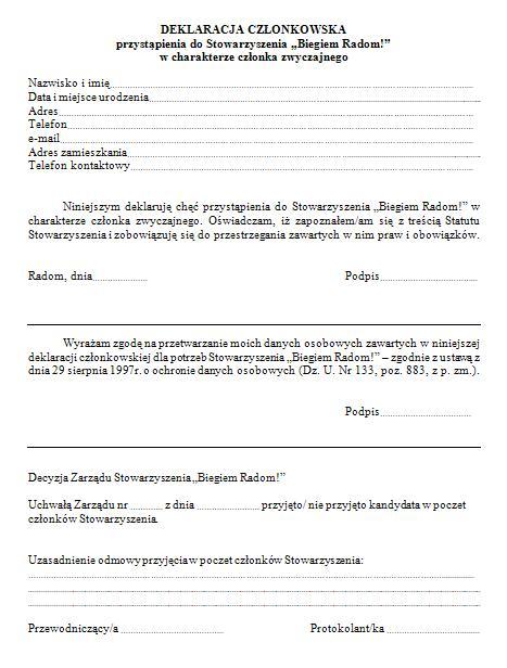 deklaracja-czlonkowska-stowarzyszenia-biegiem-radom