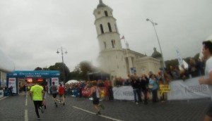 Maraton Wilno - Biegiem Radom - meta półmaratonu
