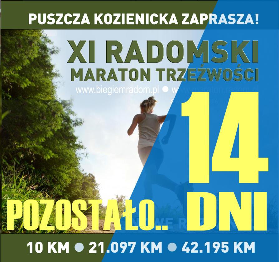 POZOSTALO DNI do Maratonu Trzezwosci